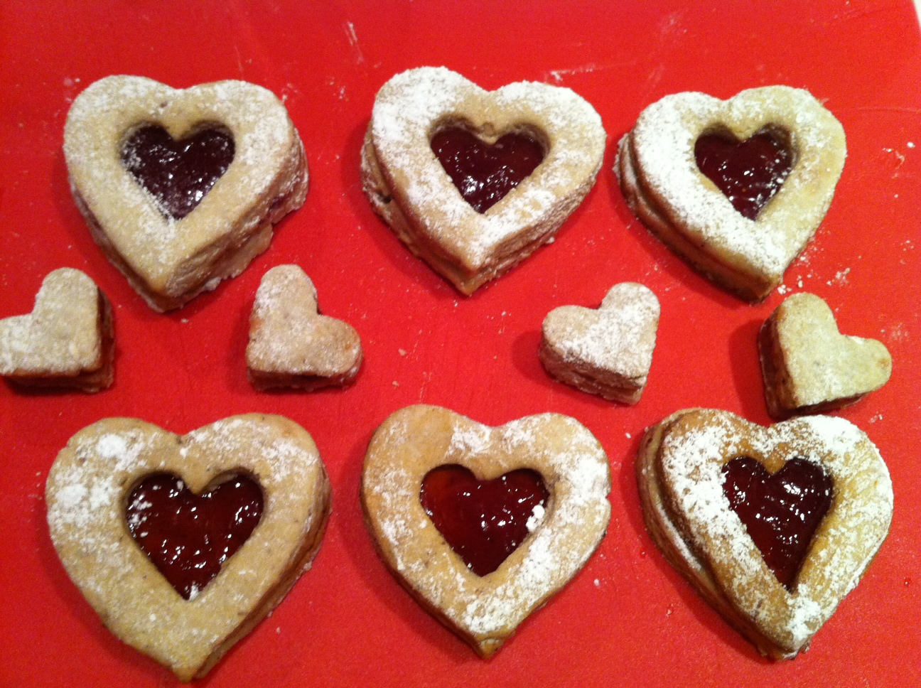 Will you be my Valentine? Heart Shaped Linzer Cookies ...